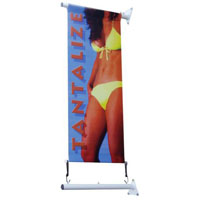 Wall Mounted 45cm Banner & Pole kit
