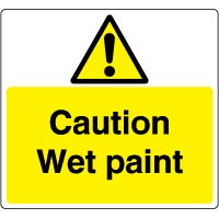 Warn078 - Caution Wet Paint
