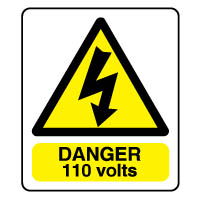 Warn085 - Danger 110 Volts