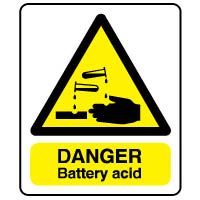 Warn116 - Danger Battery Acid