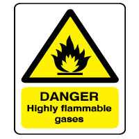 Warn150 - Danger Flammable