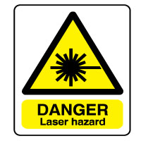 Warn176 - Danger Laser Hazard
