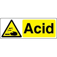 Warning safety sign - Acid 033