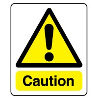 Warning safety sign - Caution 040