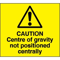 Warning safety sign - Caution Centre 045