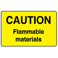 Warning safety sign - Caution Flammable 050