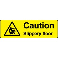 Warning safety sign - Caution Slippery 065