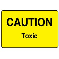 Warning safety sign - Caution Toxic 072