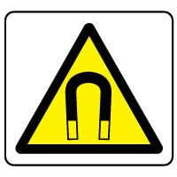 Warning safety sign - Magnet 019