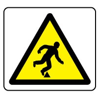 Warning safety sign - Trip Hazard 031