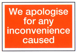 We Apologise For Any
