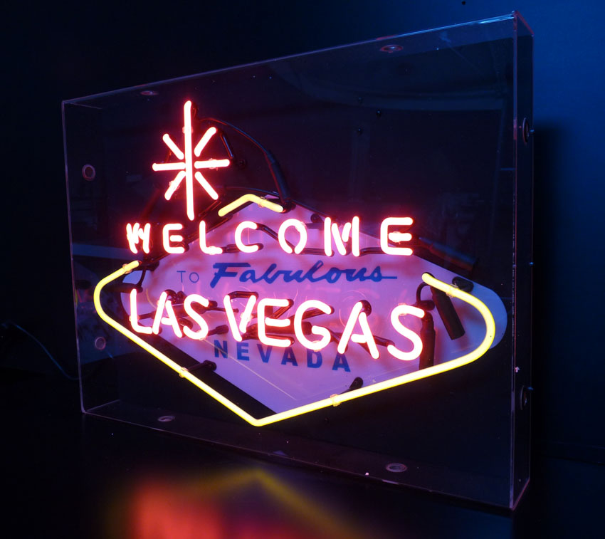 Welcome To Las Vegas Neon Sign Deluxe