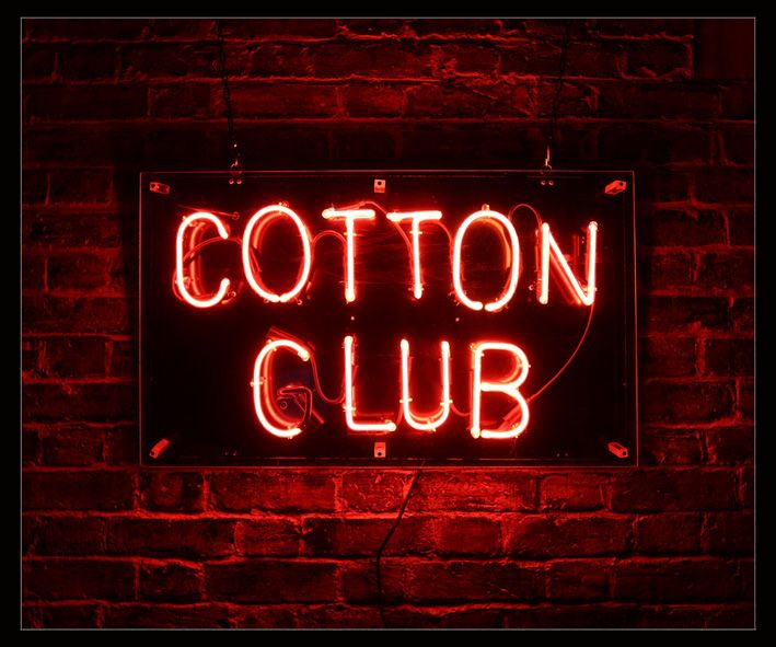 Cotton Club Neon Sign