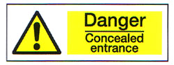 Danger Concealed Entrance 1