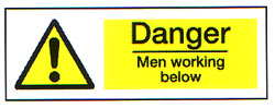 Danger Men Working Below 2
