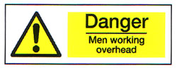Danger Men Working Overhead 1