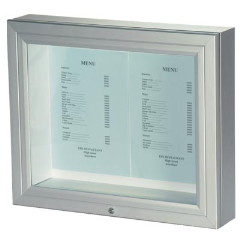 External Aluminium Menu Case