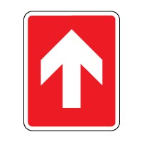 fire safety sign fire arrow up 019