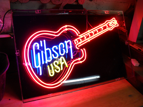 Gibson U S A Neon Sign