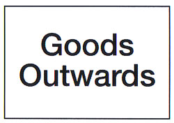 Goods Outwards Sign