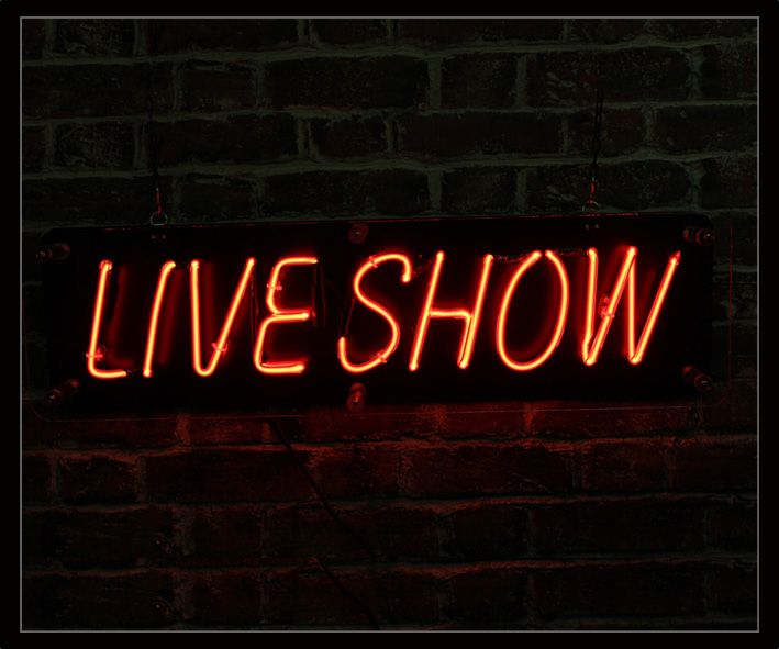 live show neon sign 1
