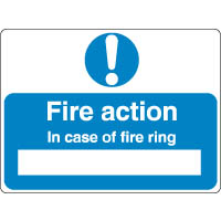 Mandatory Safety Sign - Fire Action In Case 050