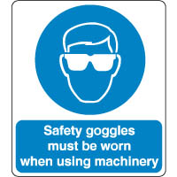 Mandatory Safety Sign Safety Goggles Must 131