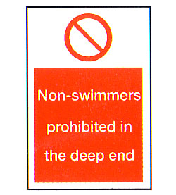 Non-swimmers Prohibited