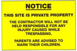 NOTICE This Site Is Private Property